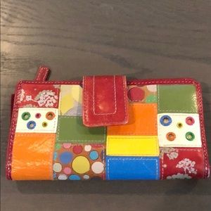 Patchwork Fossil Wallet